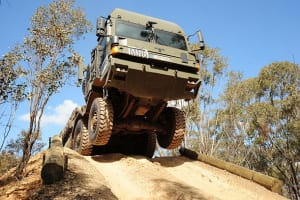 One of the Land 121 3B Rheinmetall MAN vehicles during testing. Credit: Defence
