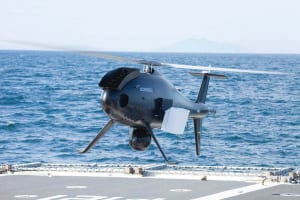 An S-100 Camcopter during Brazilian Navy trials. Credit: Schiebel