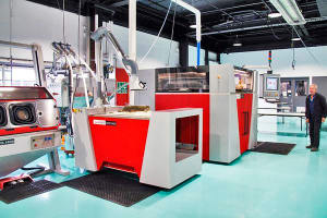 CSIRO's Lab 22 3D printing facility. The CSIRO wants to be able to print 3D in multiple materials that have sensors embedded to account for stress, fatigue and corrosion. Credit: CSIRO