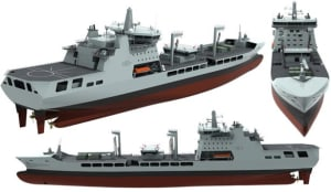 The RFA's new MARS Tanker is based on the Aegir design being considered for Sea 1654 Credit: BMT Defense Services.