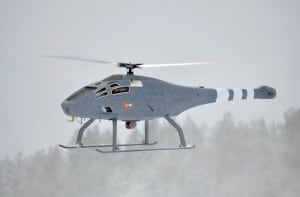 Credit: Saab.  The Skeldar is much smaller than the Firescout but