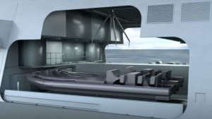 The novel design of the Type 26 Global Combat Ship mission bay. Australian SME's have been invited to participate in the program. Credit: BAE Systems