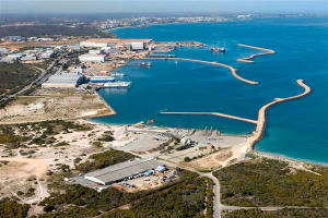 The outer harbour south of Fremantle which comprises the Australian Marine Complex at Henderson. Credit: AMC