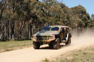 One of the test vehicles at Defence's Monegeetta proving ground in Victoria. Credit: Thales Australia