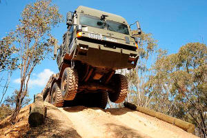 A Rheinmetall MAN vehicle undergoes trials in Townsville for Project Land 121 Phase 3B. Credit: Defence