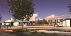 Artists impression of new facilities at RAAF Base Williamtown for the F-35A. Credit: Coffey