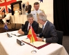 Minister for Defence Stephen Smith with Don Pedro Morenes Eulate (Minister for Defence, Spain) signing a Memorandum of Understanding. [Photo:Defence]