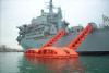 LSA slides and 100 person liferafts fitted on Royal navy Fleet Auxiliary Argus. Credit: LSA
