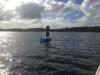 The Bluebottle prototype undergoing trials recently on Lake Macquarie. Credit: Ocius Technology