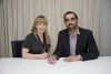 Acting DTC CEO Kerryn Smith signs the MoU with IDC CEO and former AFL star Adam Goodes. Credit: DTC