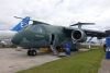 Embraer's KC390 prototype at Farnborough. Delivery of the first production aircraft for the Brazilian Air Force will occur in the second half of 2018. Credit: ADM (Nigel Pittaway)