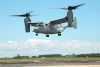 An MV-22B Osprey equipped with a 3D printed titanium link and fitting inside an engine nacelle maintains a hover during a July 29 demonstration at Patuxent River Naval Air Station, Maryland, US. Credit: US Navy