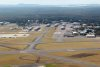 Aerial view of RAAF Base Williamtown, runway and taxiways. Credit: Defence