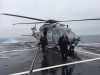 SA Minister for Defence Industry Martin Hamilton-Smith (L) arrives aboard the Italian Navy ASW FREMM frigate ALPINO courtesy of a Navy NH-90 NFH helicopter. Credit: Kevin Naughton