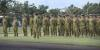 Australian Army officers and soldiers from Force Support Element-6 stand at ease during their farewell parade at Robertson Barracks, NT, prior to deploying to Middle-East Region. Credit: Defence