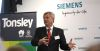 CEO Chuck Grindstaff speaking at the event in Tonsley, Adelaide. Credit: Siemens ANZ