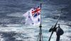 Flying the White Ensign – the US has been encouraging regional partners to practice freedom of navigation by sea as well as air. Credit: Defence