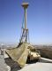 The Giraffe Counter Rocket Artillery and Mortar (C-RAM) radar above the Tarin Kot base in Afghanistan in 2011. Credit: Defence