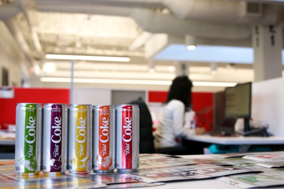 Diet Coke has a brand-new look, and four new flavours