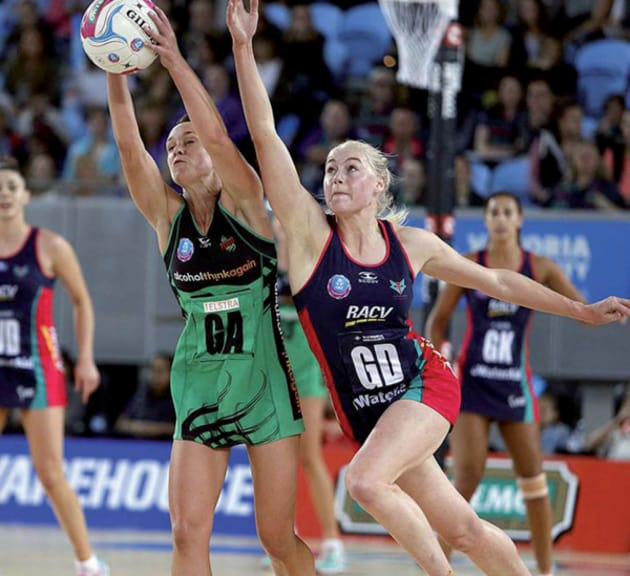West Coast Fever and Melbourne Vixens at Perth Arena (Netball Australia)