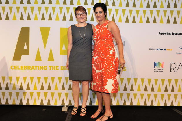 Cornelia Schulze and Anthea Loucas Bosha at the Australian Magazine Awards