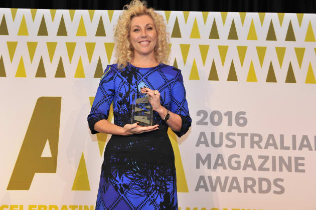 Kerrie McCallum at the Australian Magazine Awards