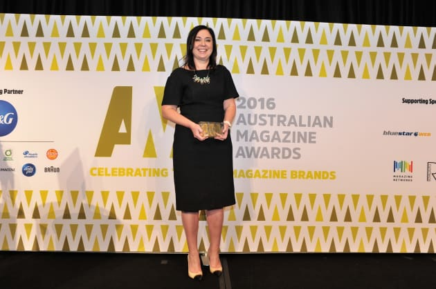 Nicole Sheffield at Australian Magazine Awards 2016
