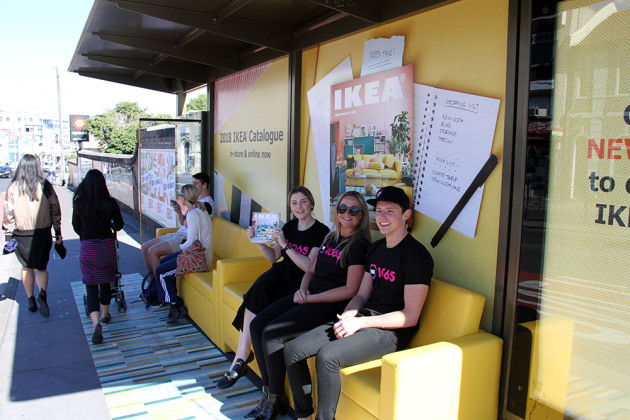 ikea transforms bus shelters into living rooms in outdoor activation adnews. Black Bedroom Furniture Sets. Home Design Ideas