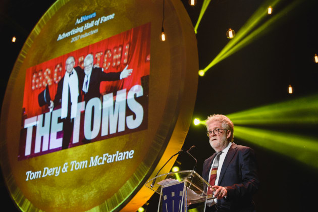 Tom McFarlane at the Agency of the Year Awards