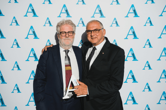Tom McFarlane and Tom Dery at the Agency of the Year Awards