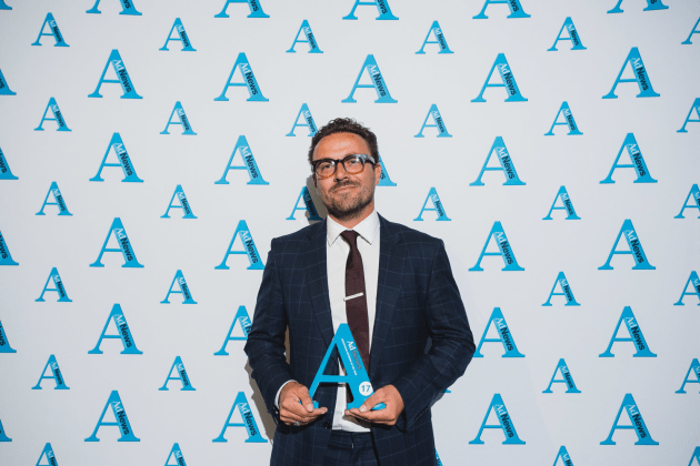 Nick Garrett at the Agency of the Year Awards