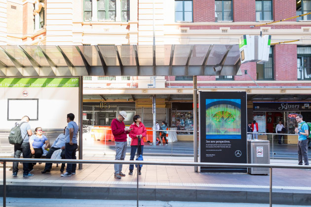 The Brand Tapped Media Agency Foundation, Creative Agency Clemenger  Melbourne And JCDecaux For The Final Work. Mercedes Benz ...