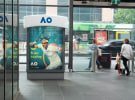 Australian Open: JCDecaux's giant sweatbands around Melbourne
