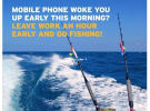Fishing brand jumps on Optus Queensland clock cock-up