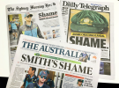 Newspapers react to Australian cricket scandal