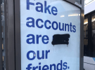 Facebook 'fake news' ads defaced by vandals