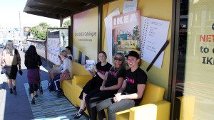 Ikea transforms bus shelters into living rooms in outdoor activation