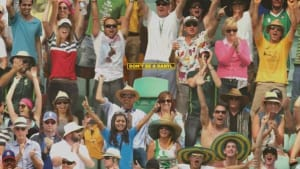 "Anonymous ""Daryl"" character reminds Aussies to catch the Cricket Test Series"