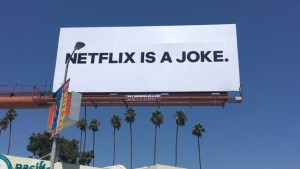 Netflix trolls itself with guerrilla outdoor campaign