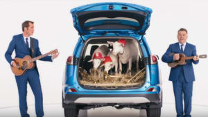 Toyota says anything goes - even a boot full of goats
