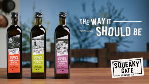 Squeaky Gate promotes olive oil 'The Way it Should be'