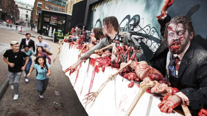 Zombie billboard terrorises London as it comes to life
