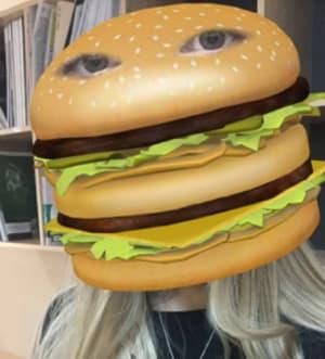 Snapchat burger