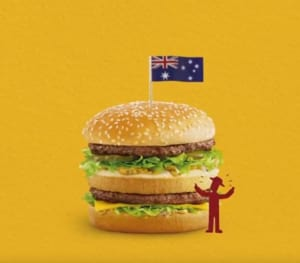big things are a uniquely australian phenomena and so to show its support of australian farmers and the produce that goes into its burgers mcdonald s is