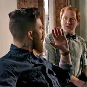 Hipster bloodbath denham jeans recreates american psycho business hipster bloodbath denham jeans recreates american psycho business card scene colourmoves