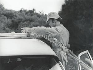 An early photo of Jack Erskine taken in the 1970s by legendary fishing photographer Ossie Emery.