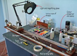 Rod building tools fishing world for Fishing rod building tools