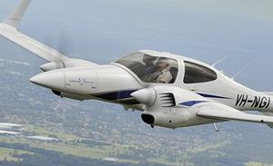 Hawker Pacific's Diamond DA42-NG with Austro diesel engines. (John Absolon)