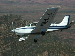 Flying over Wilpena Pound in a Piper Dakota. (Shelley Ross)