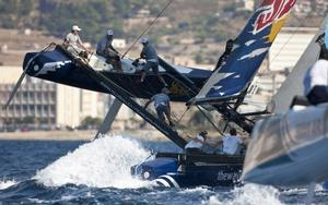 Red Bull in close-quarters action at the Extreme Series. Photo Lloyd Images.
